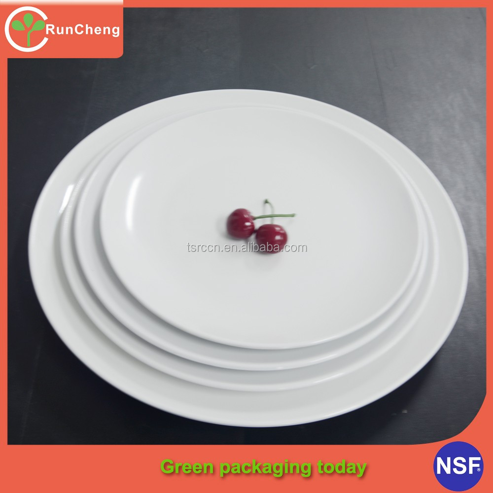 7-14inch Round Hotel Banquet Used Melamine Tableware imitation Porcelain Dinner Plate