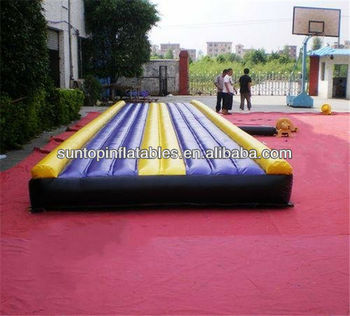 most durable inflatable tumbling gym track with many colors for choice