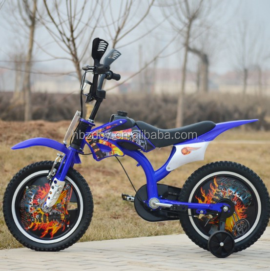 "Motorbike looking 16 inch kids bicycles with 2.4 tyre 16"" bicicletas/bycycle"