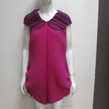 Humen New Fashion Ladies Dress Roman Collar Raspberry Simple Fashion Dress