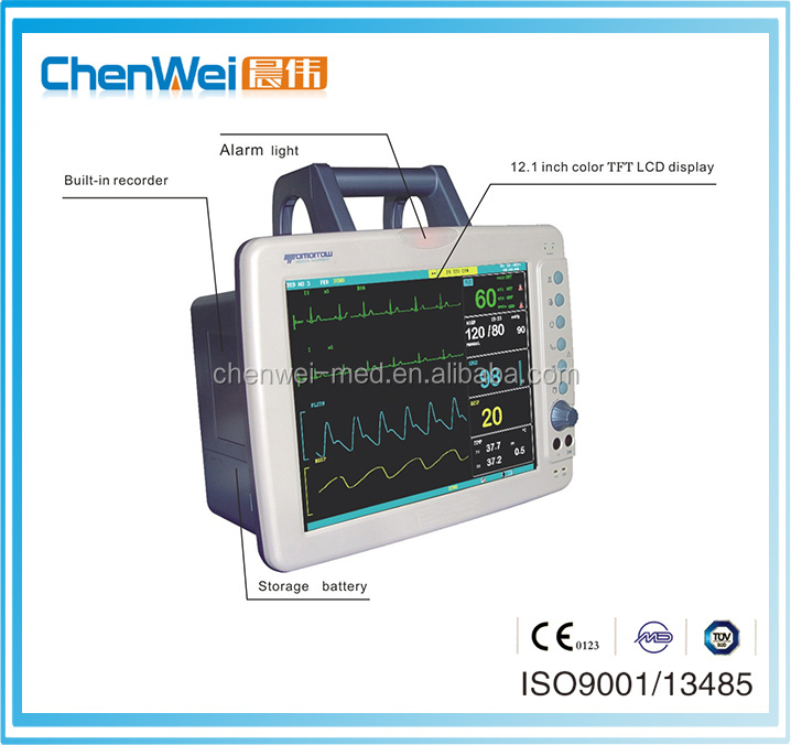 900E portable multi-parameter handheld patient monitor with LCD touch
