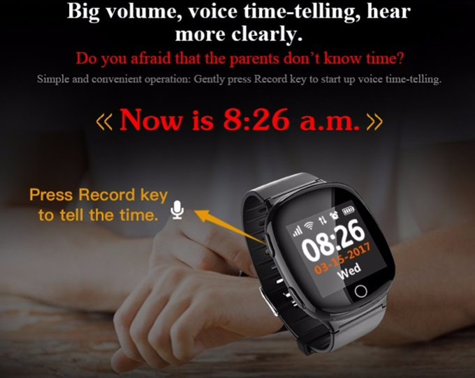 Wonlex EW100S Older/Adults Fall Detection Heart Rate GPS Smart Call Phone Watch