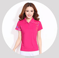 Custom new design women golf bulk polo t shirts with printed logos