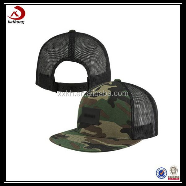 china wholesale digital blank camo camouflage trucker hat