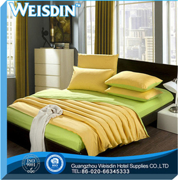 single bed new style 100% linen micro fleece luxury satin silk hotel bedding set