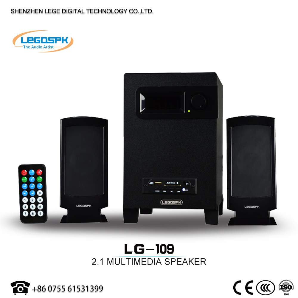 2.1 speaker with a screen home theatre speaker system for dvd tv