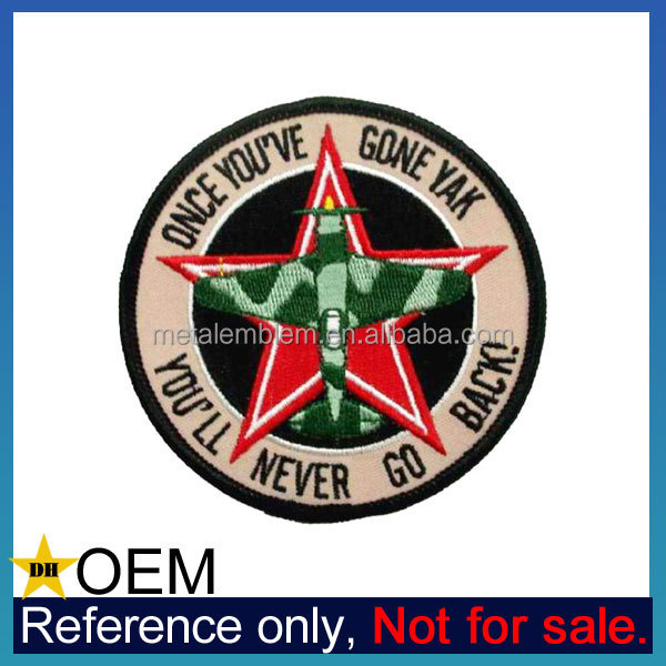 Promotion Custom University Military Pilot Uniform Embroidery Army Patches