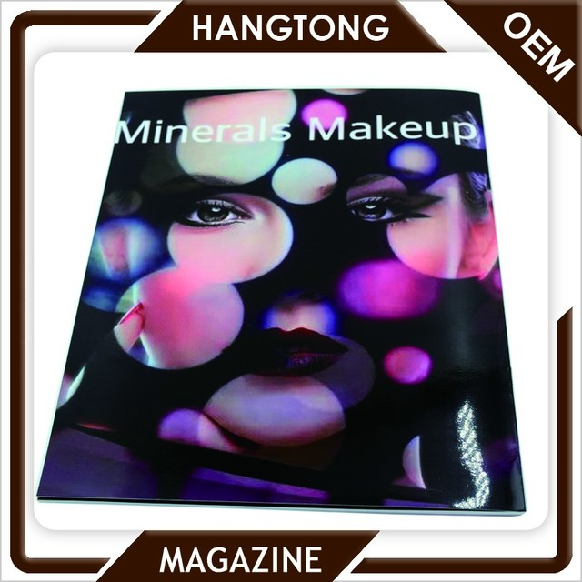 new design colorful custom cosmetic catalogue printing at low price advertise catalogue design