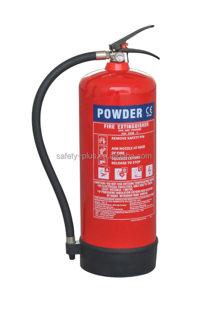 Portable abc dry chemical powder fire extinguisher system