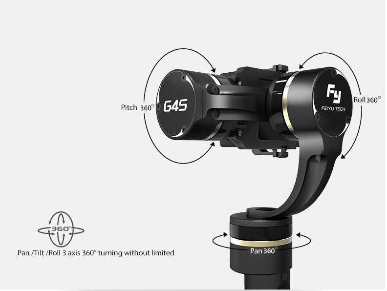FY-G4S 360 degree gimbal for actioncam