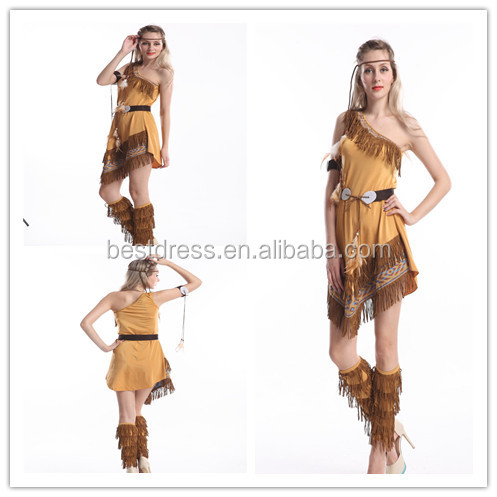 Indian Costume Womens Pocahontas Adult Fancy Dress