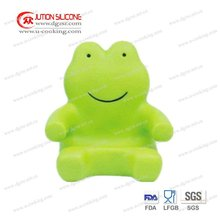 frog shape silicone mobile phone stand