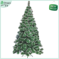 Best seller Good Price Rounded Leaf Design PET pine needle Christmas Tree