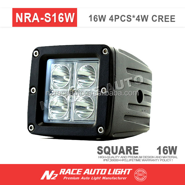 "High Performance Off Road 3"" 16w Cube LED Work Light 4w Chip For Truck 4WD ATV UTV"