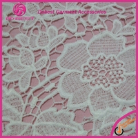 Wonderful Surprise White Luxury Emboridery Swiss French Lace Fabric