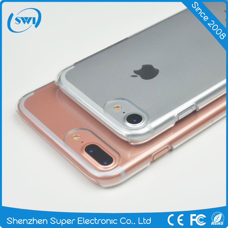 For iPhone 7 Crystal Clear Transparent PC Hard Case