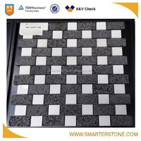White stone mosaics multicolor mosaic tiles for sale