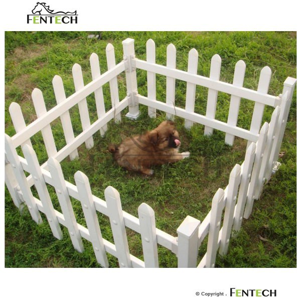 Made in China Fentech Top Standard White Widely Used Plastic Portable Dog Fence