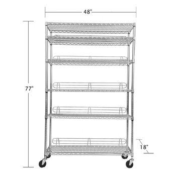 NSF Certificate Commercial Used Chrome Wire Shelving