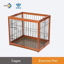 EPW - S Rubber wood veterinary tools iron fence fold flat puppy dog show cage