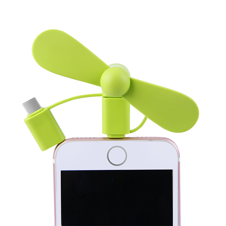 3 in 1 8 Pin USB Lighting Portable Charge Custom Logo Mini Smart Cell Phone <strong>Fan</strong>