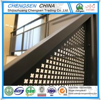 Building material perforated metal deck for decorative