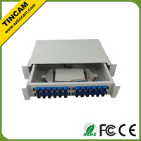 slide out drawer Fiber Patch Panel with splice trays 24 port