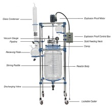 High Qualified Double Glass Reactor for Pharmaceutical Industry