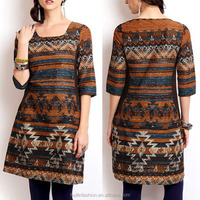 China printed ladies long kurta designs for women