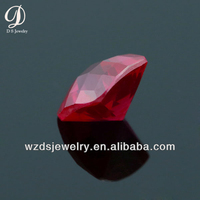 Wholesale AAA Square Grid and Lattice Checker Cut Faceted 5# Ruby Lab Synthetic Corundum Stone Gems Loose Gemstone Beads Diamond