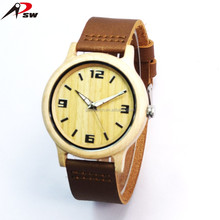 Royal gift boxes simple style natural wooden case miyota 2035 movement watch