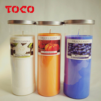 Hot Sale Candle Tall Jar Candle with Metal Lid