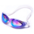 Wholesales custom hot selling mirror coated silicone swimming goggle