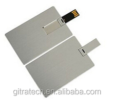 Promotion Metal Card Shape Usb Flash Disk Pen Drive With Customed Logo