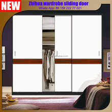 Bedroom Wardrobe closet Aluminum frame mirror sliding door designs