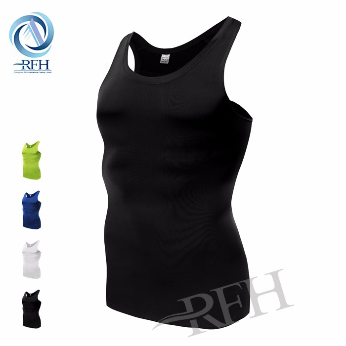 Compression Shirt Sports Clothes Mesh Blank Men's Tank Top