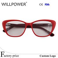 red frames clear reading spectacles glasses for women cheap prescription eyeglasses
