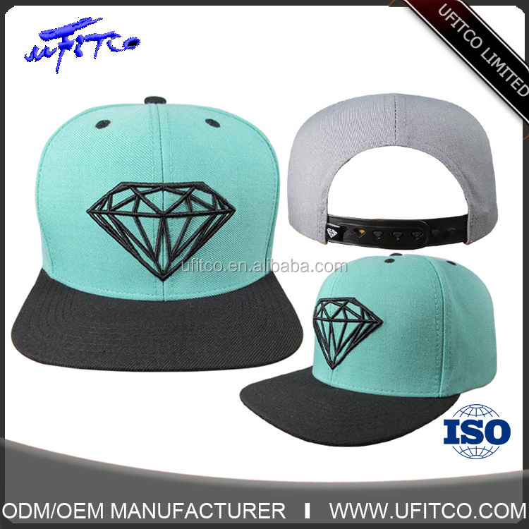 China Supplier Custom design your own 6 panel embroidery snapback hat Wholesale