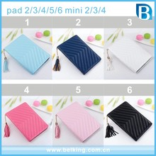 For iPad Tassel Leather Case, Wallet PU Cover Case For iPad 2/3/4/5/6, Tab Case For iPad Mini Cover