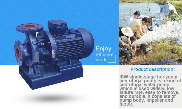 Factory direct sales ISW Single Stage horizontal Centrifugal Pump