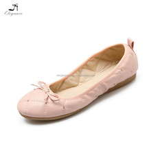 Women's Fashion Casual Solid Plain Beads Quilted Ballet Comfort Soft Slip On Ladies Flats Shoes