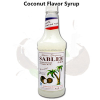 SABLEE coconut syrup for beverage application with HALAL 900ml