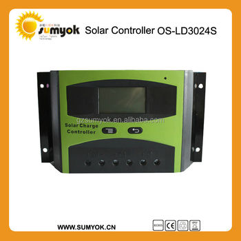 12 24 48 /30A PWM Manual Solar charge Controller with lcd display for solar system