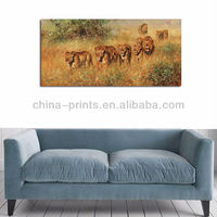 Famous Art Lion Modern Canvas Painting Manufacturer From China