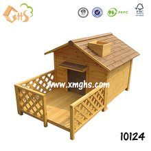 Waterproof outdoor wooden large dog house
