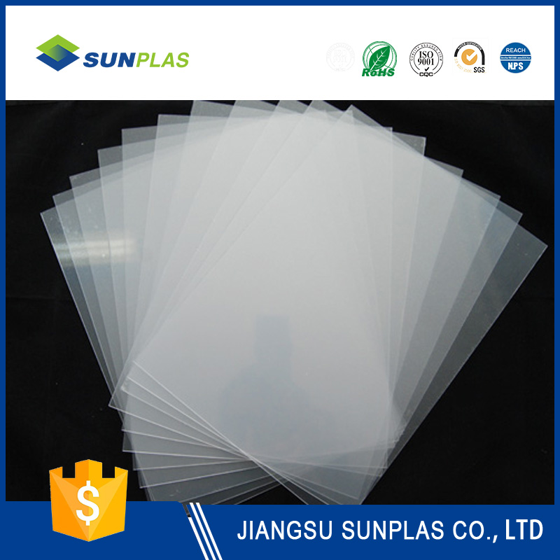3mm thick pvc rigid plastic sheets thin matte clear 0.2-2mm thick for packing and printing