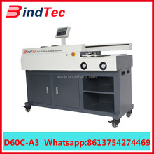 D60-A3 Automatic A3 A4 photo paper industrial hot melt glue perfect book binding machine price