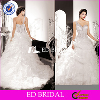 YW252 Open Back Sexy See Through Corset One Shoulder Ball Gown Middle East Wedding Dresses