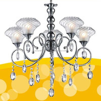 glass with crystal chandeliers chrome color mexican iron chandelier lighting GZ20360-5P