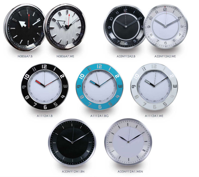 Fashion decorative metal wall clock / home decor wholesale/ modern vogue round wall clock